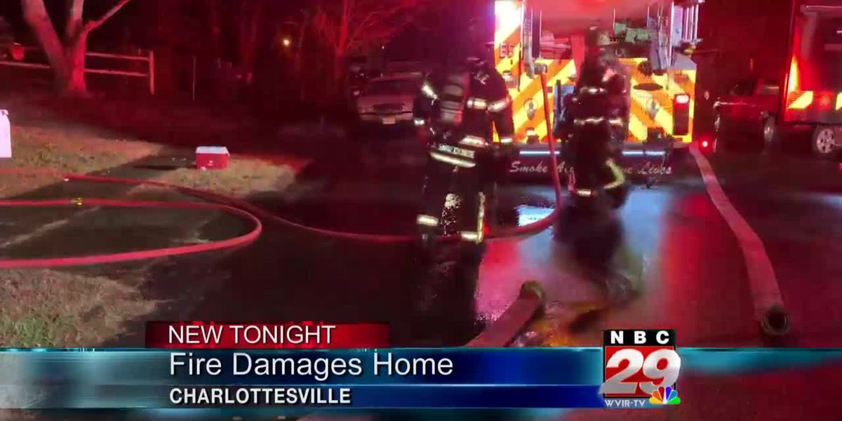 Fire damages Charlottesville home, no injuries reported