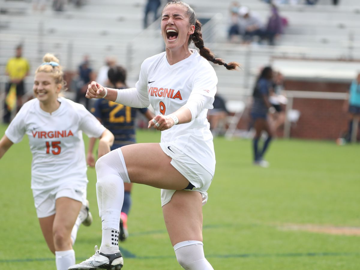 No. 12 UVA women's soccer plays No. 5 West Virginia to 1-1 draw in double-overtime