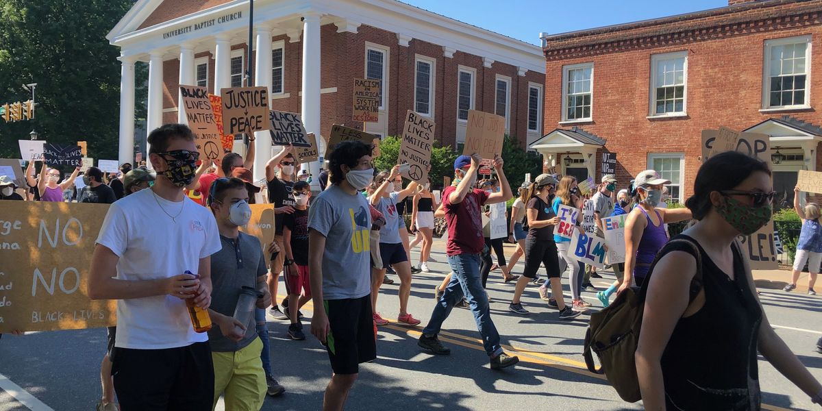Black Lives Matter protesters rally, march in Charlottesville