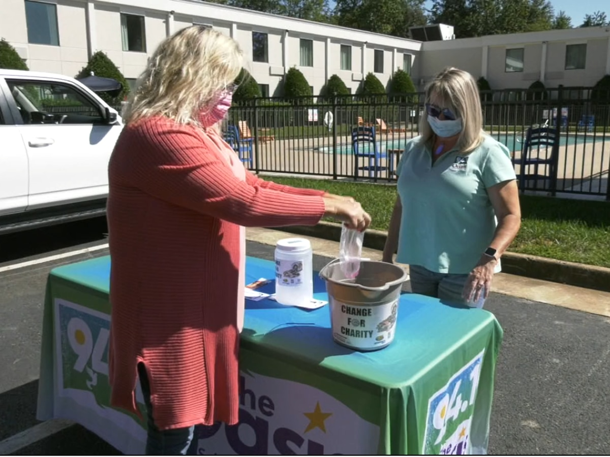 A local radio station is collecting spare change to help fight hunger