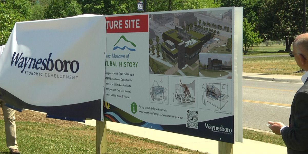 Sign unveiled, design funded for Virginia Museum of Natural History in Waynesboro
