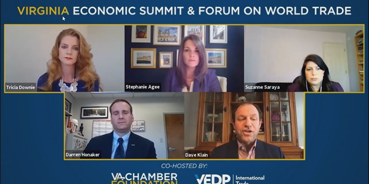Virginia Economic Summit and Forum on World Trade meets to discuss pandemic rebound