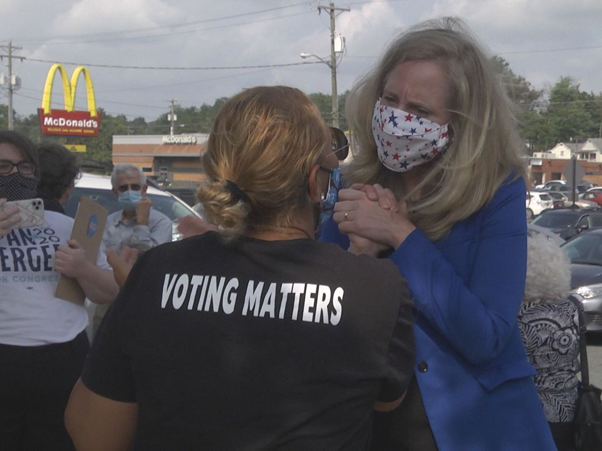 7th District congresswoman Abigail Spanberger visits early voters in Orange County