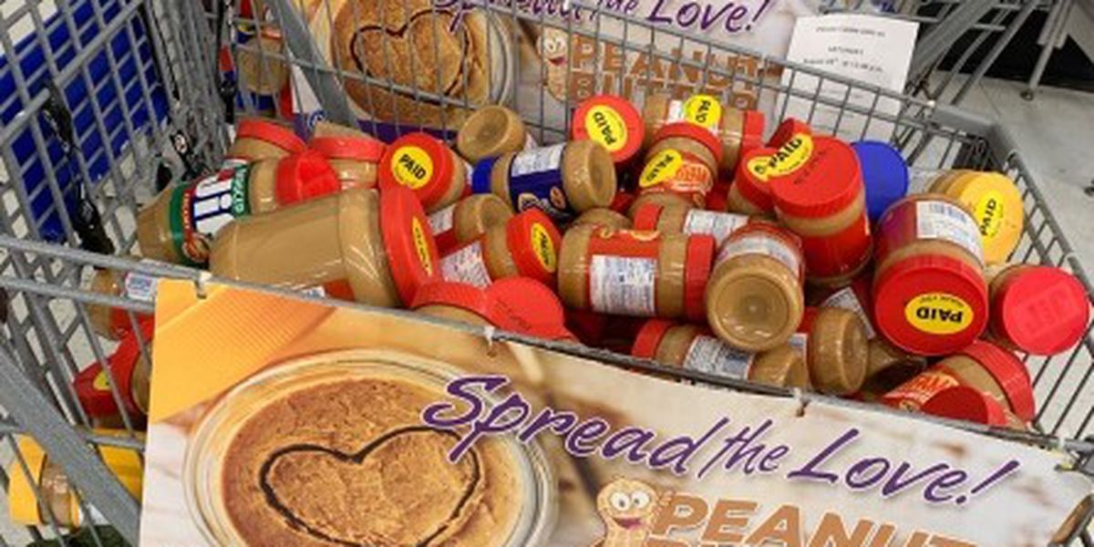 """""""Spread the Love"""" donation drives hopes to collect 20,000 pounds of peanut butter for BRAFB"""