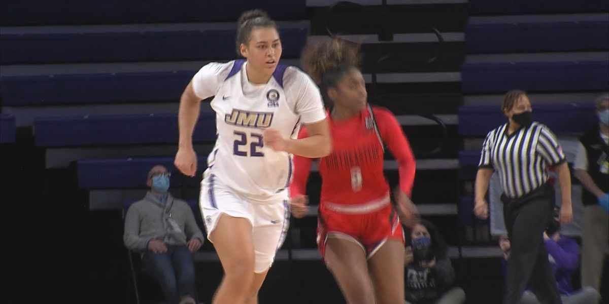 JMU women's basketball falls 77-69 against Northeastern