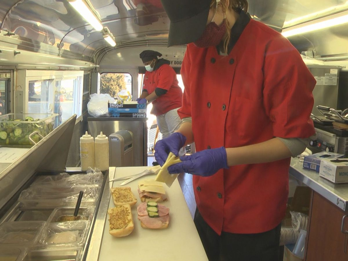 CATEC students learning skills by working on a food truck