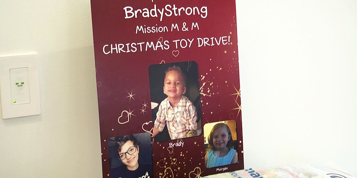 Operation BradyStrong Mission M&M Christmas Toy Drive benefits UVA Children's Hospital