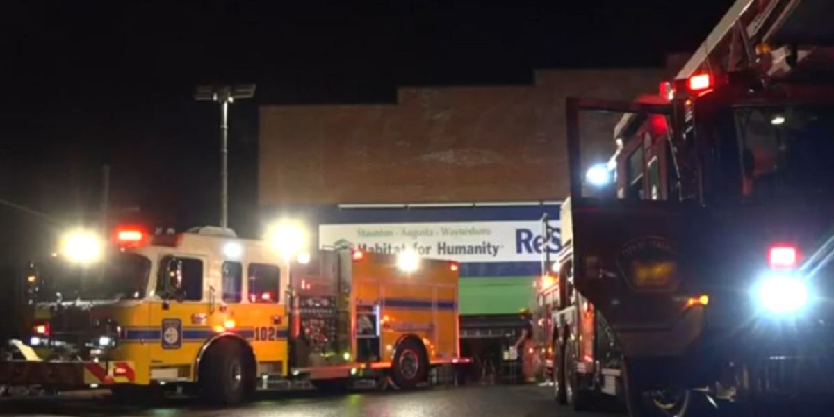 Staunton firefighters respond to two-alarm fire at Habitat for Humanity ReStore