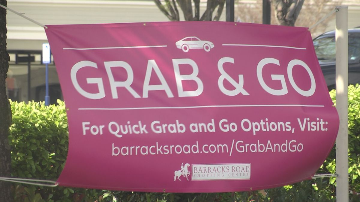 "Barracks Road businesses join together, launch ""Grab and Go"" campaign"