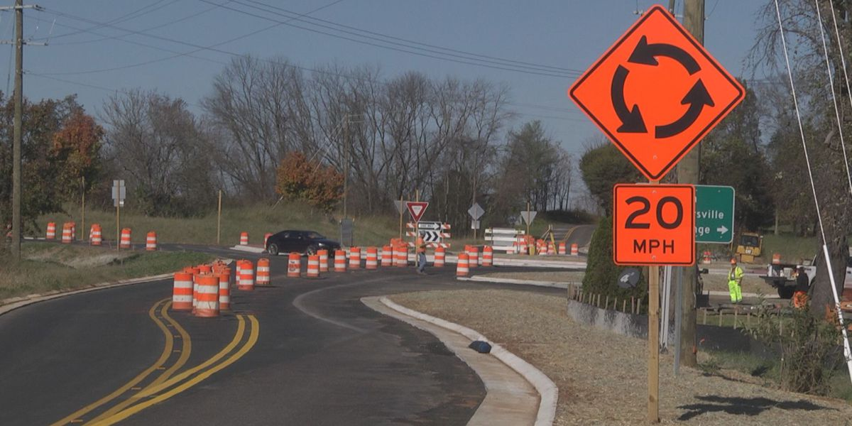 Work nears completion on roundabout in Orange County