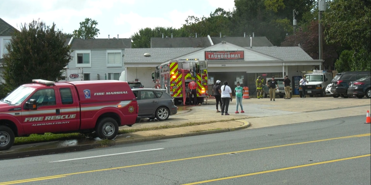 Emergency crews respond to fire at laundromat on Hydraulic Road