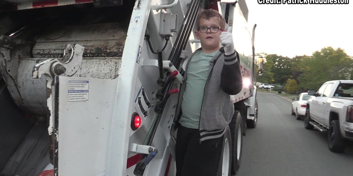 Elementary student helping his neighborhood, one trash collection at a time