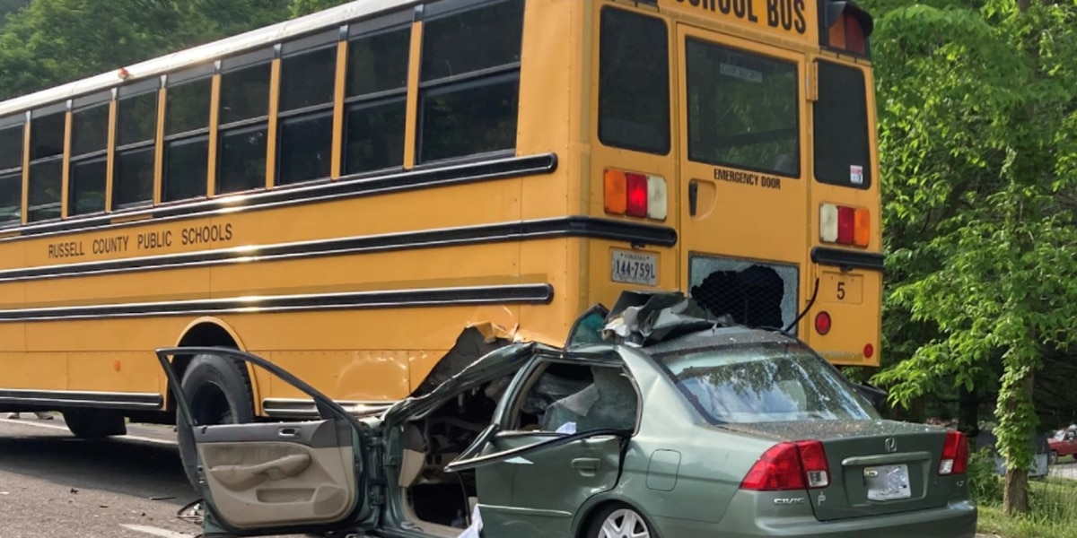 Police investigate after vehicle rams into bus with students on board