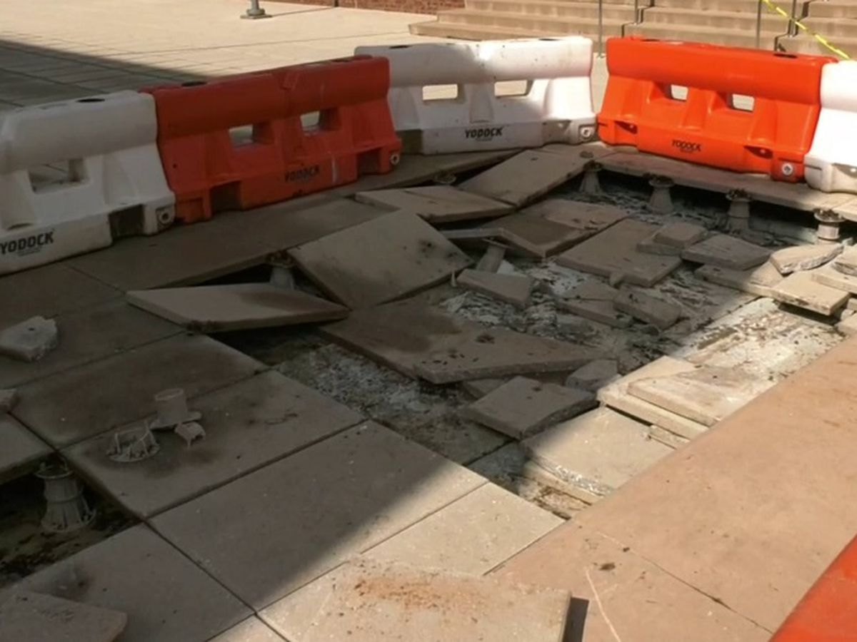 Plaza damaged at UVA