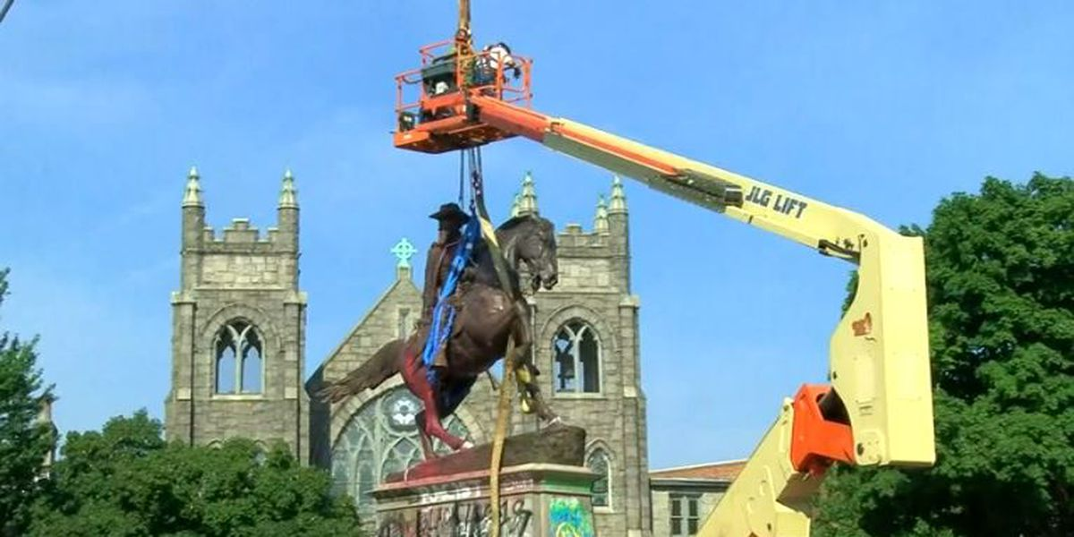 LIVE: Crews removing statue of Confederate Gen. J.E.B. Stuart in Richmond