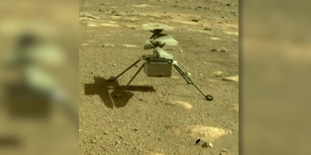 NASA helicopter takes historic flight on Mars