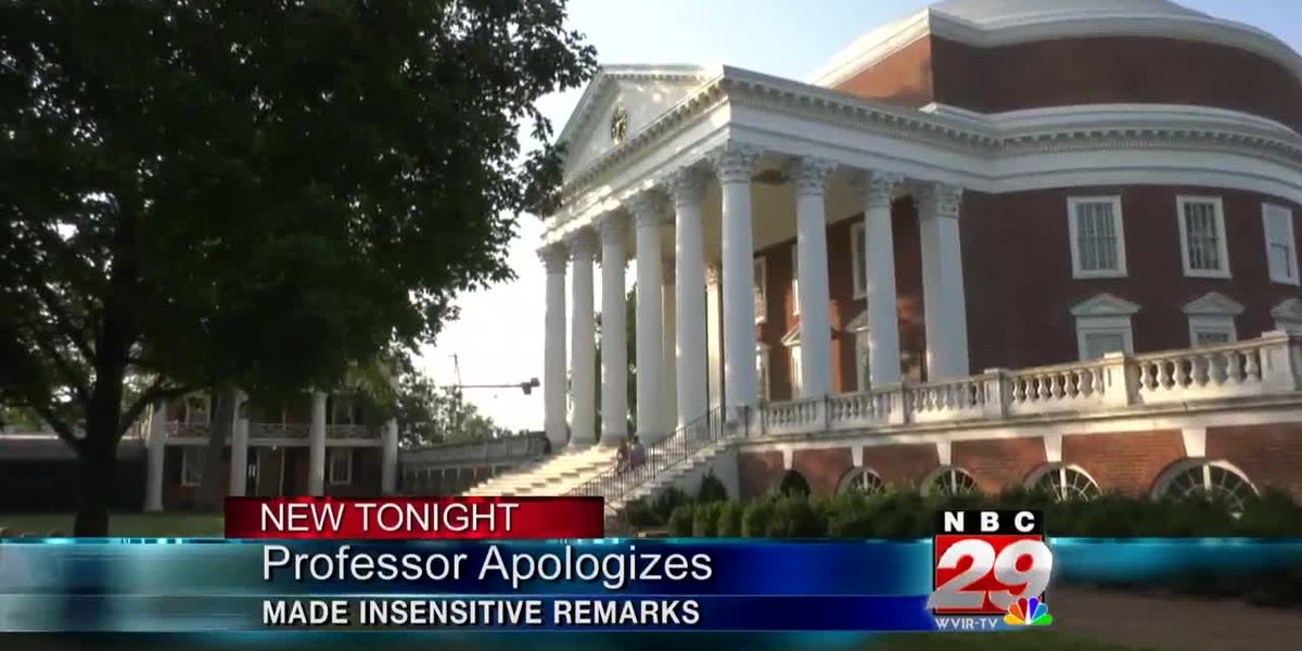 University of Virginia professor apologizes for 'insensitive' racial comment