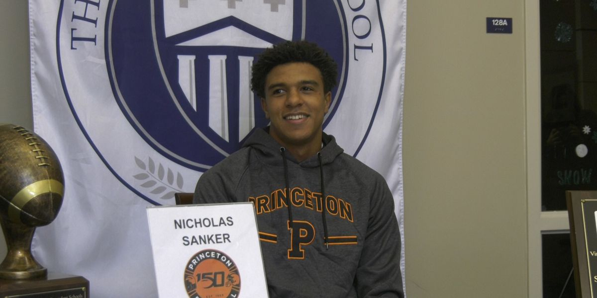Covenant's Nic Sanker signs with Princeton football