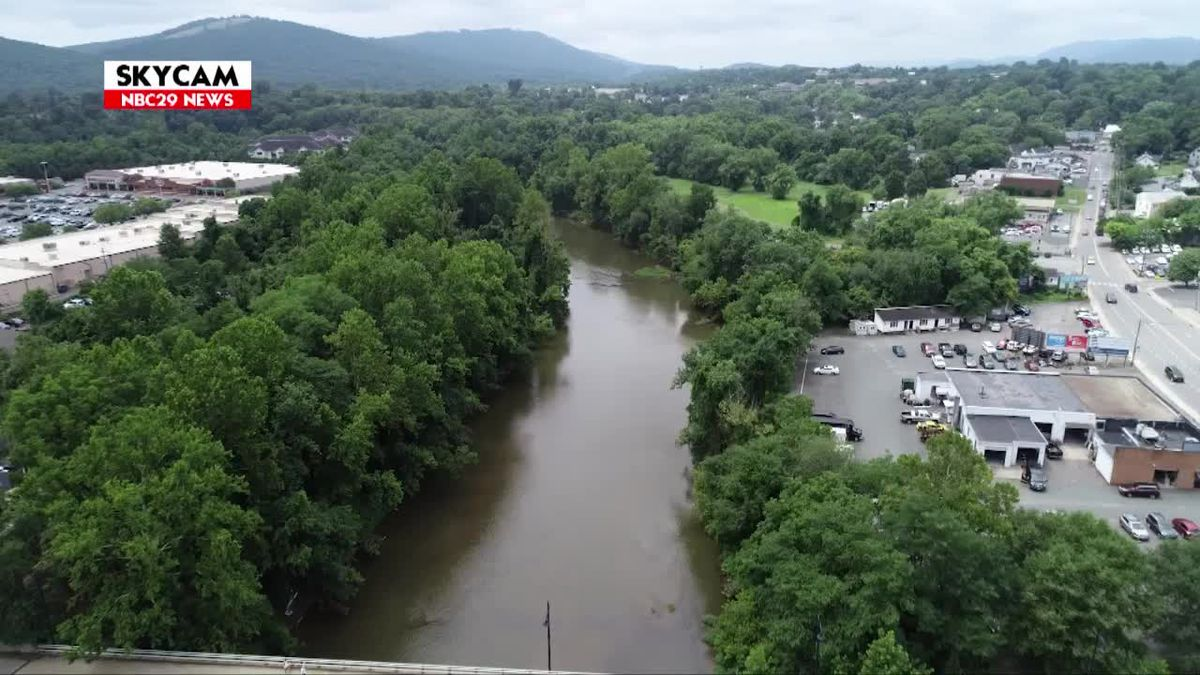 NBC29 Skycam: Rivanna River July 5, 2019
