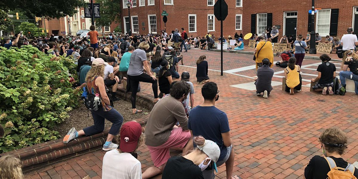 Black Lives Matter Charlottesville holds Walk for Justice in downtown Charlottesville