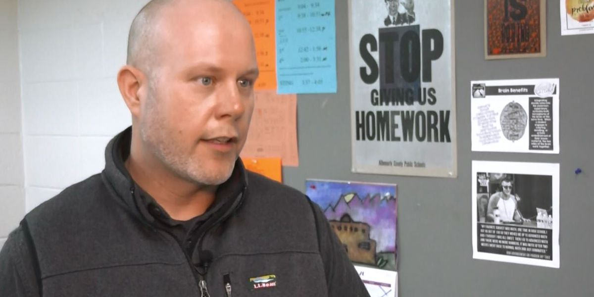 Albemarle County teacher has not assigned homework for years and his students are scoring high
