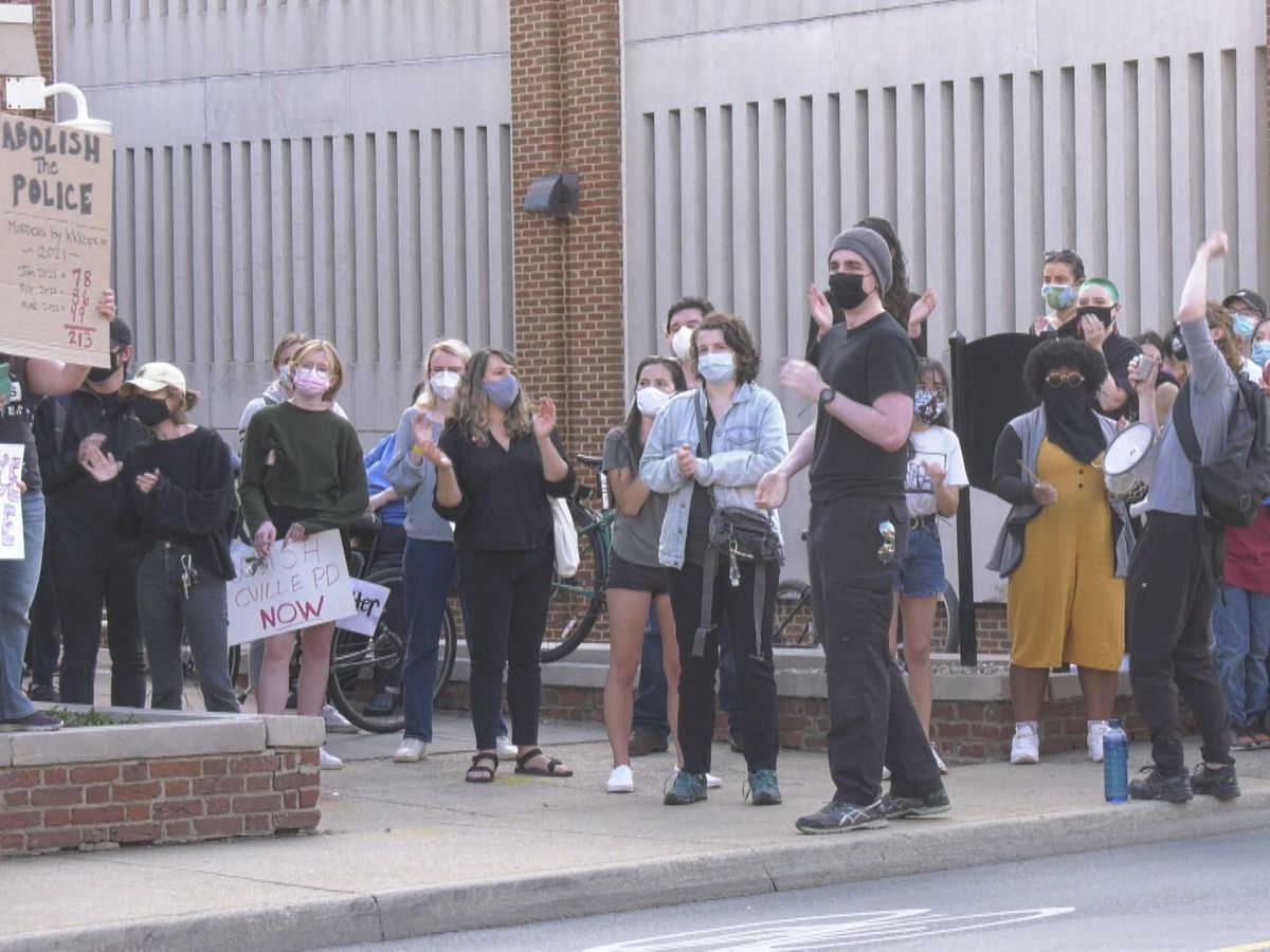 'Abolish the Police' noise demonstration held outside Charlottesville Police Department