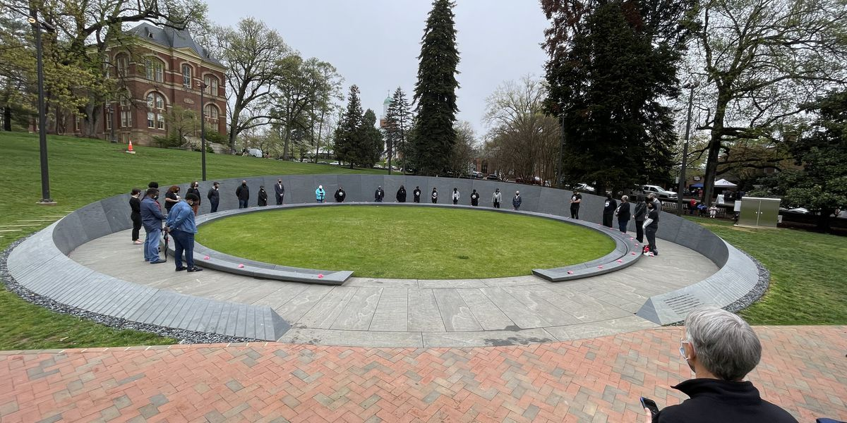 UVA's Memorial to Enslaved Laborers completed with moment of silence, ceremony