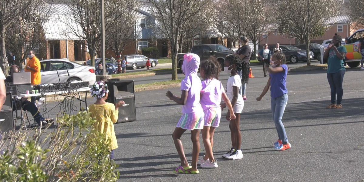 Charlottesville's B.U.C.K Squad hosts party for kids on South First Street