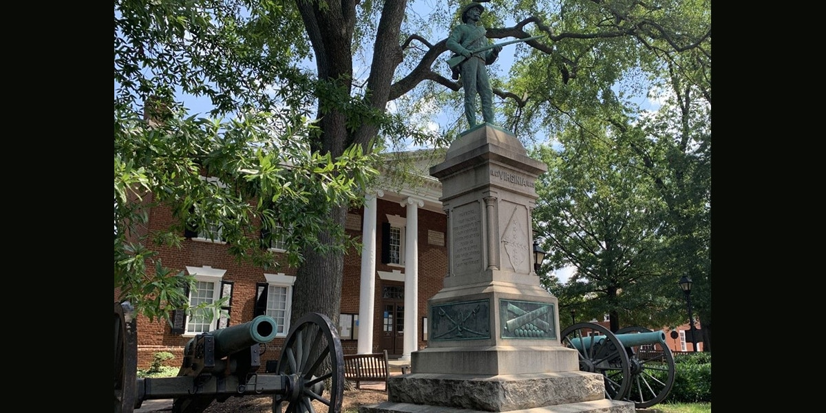 Activists speaking out after successful efforts to remove Albemarle County's 'At Ready' statue