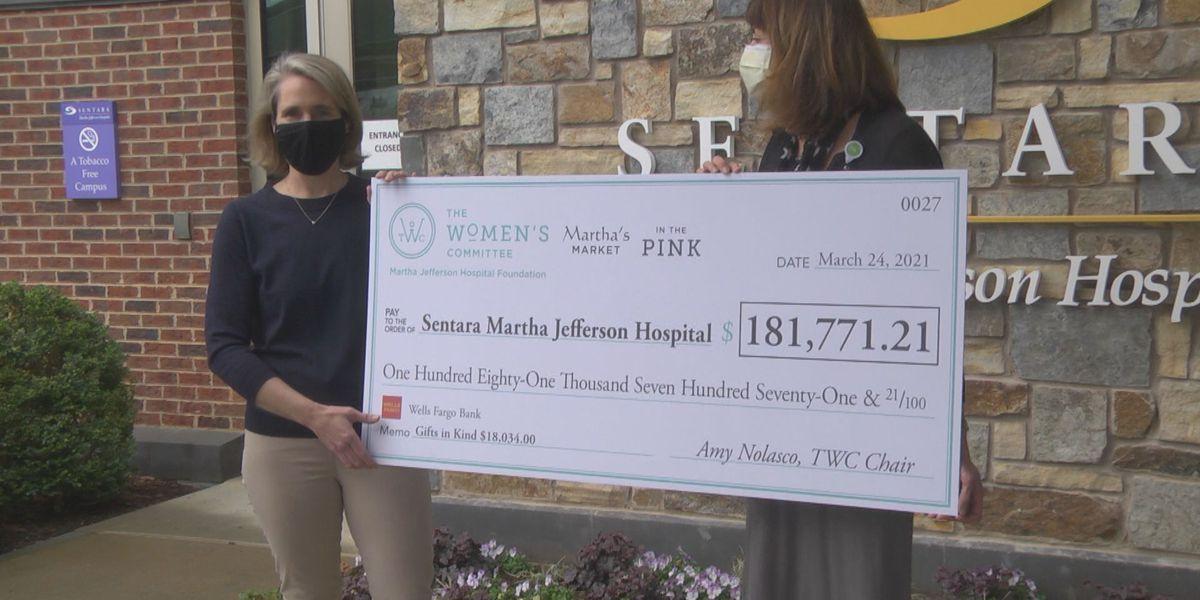 Sentara Martha Jefferson receives over $180,000 from Women's Committee