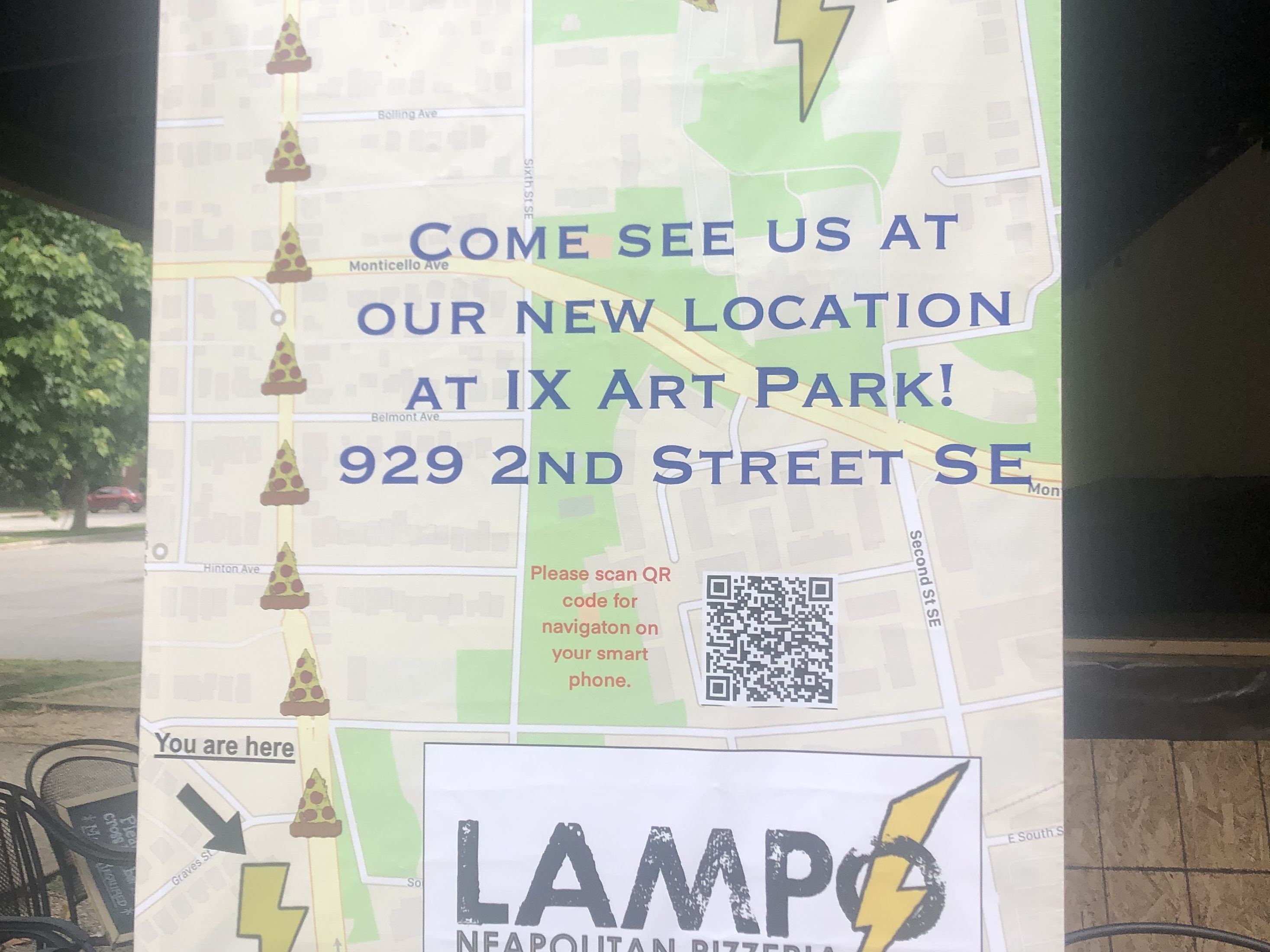 Lampo Neapolitan Pizzeria moved to IX Art Park