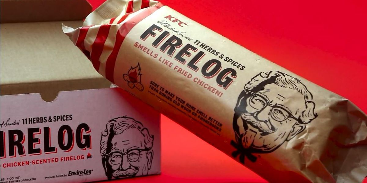 KFC brings back chicken-scented firelogs for the holidays
