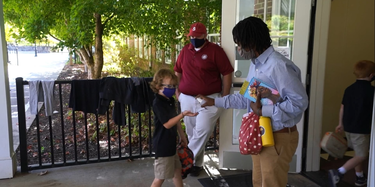 Private schools relying on outdoor space, sanitizer to keep students safe