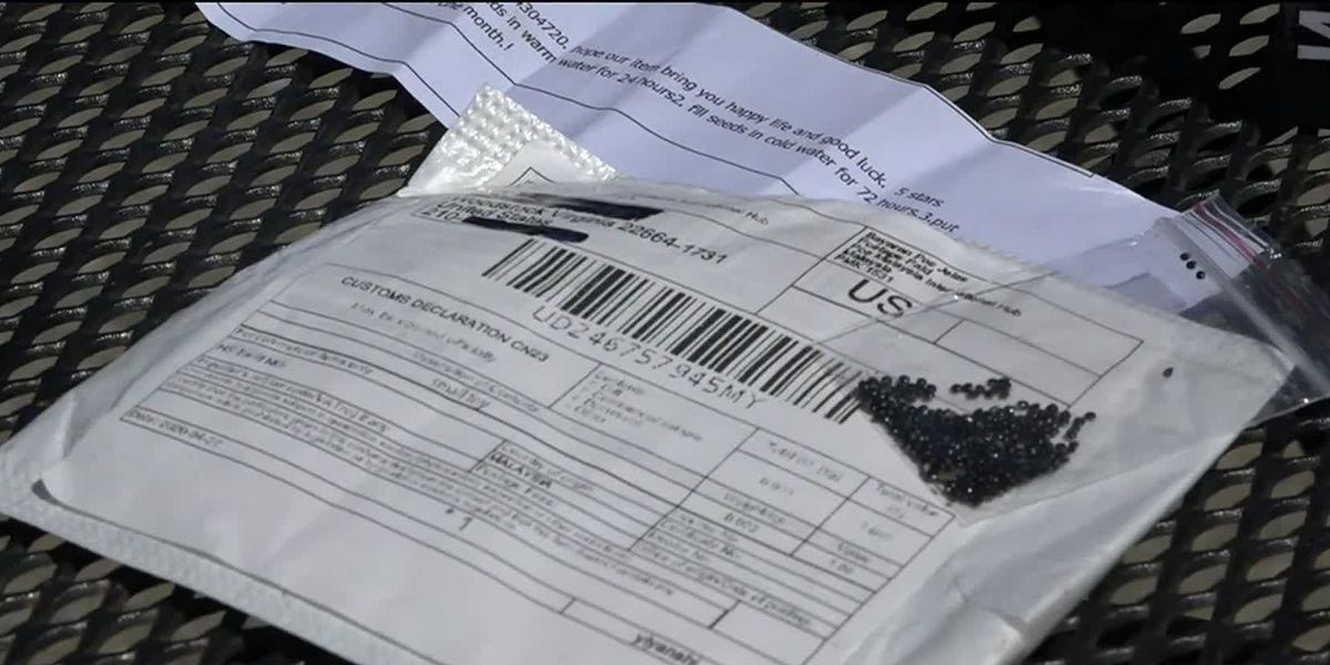 Suspicious seeds have been mailed out in the Shenandoah Valley