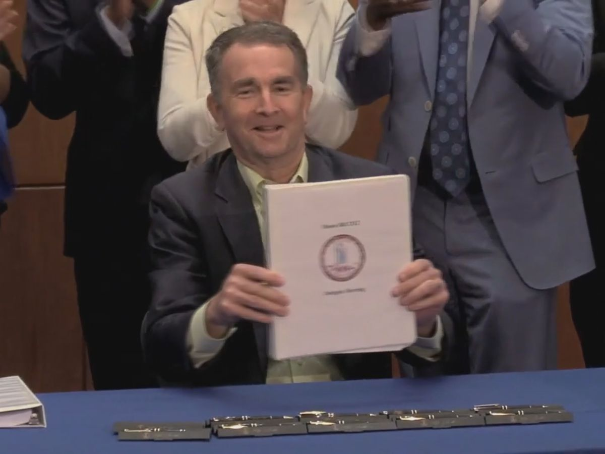 Gov. Northam signs bill legalizing marijuana