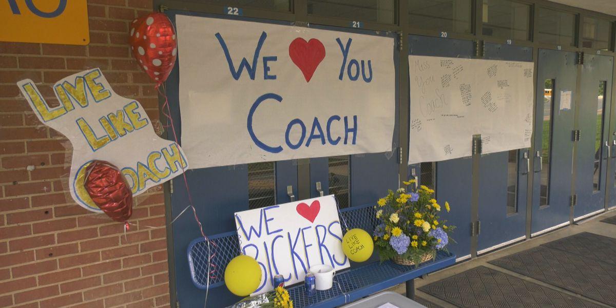 Students at Western Albemarle High School create memorial for Carroll Bickers