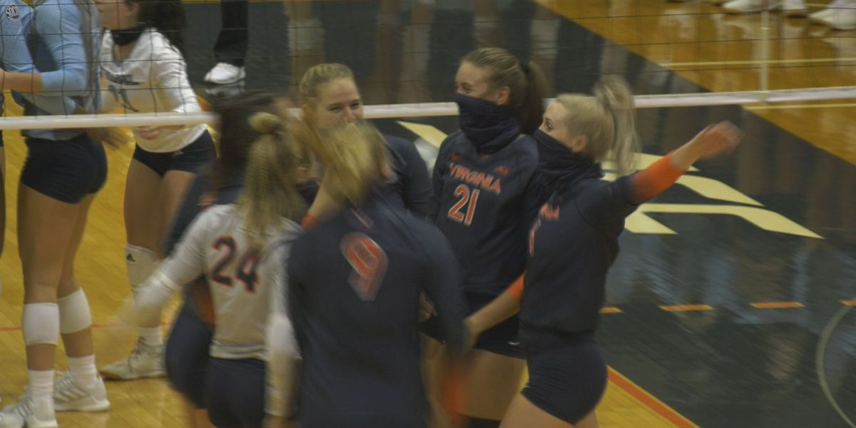 UVA volleyball beats The Citadel 3-0 in season opener at Mem Gym