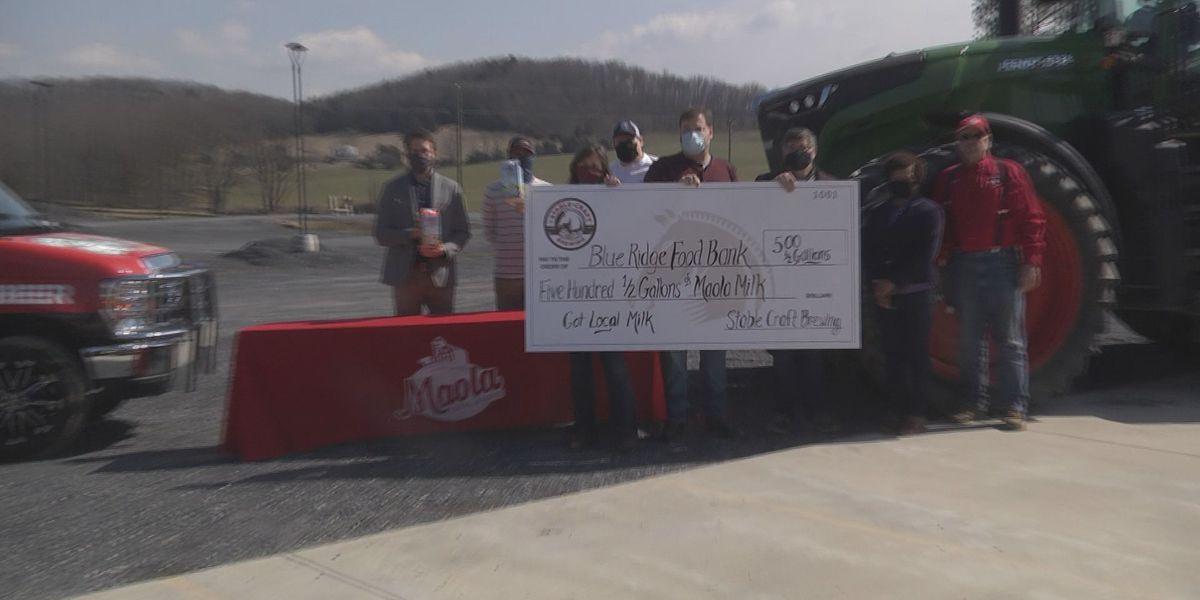 Brewery gifts 500 half gallons of milk to Blue Ridge Area Food Bank