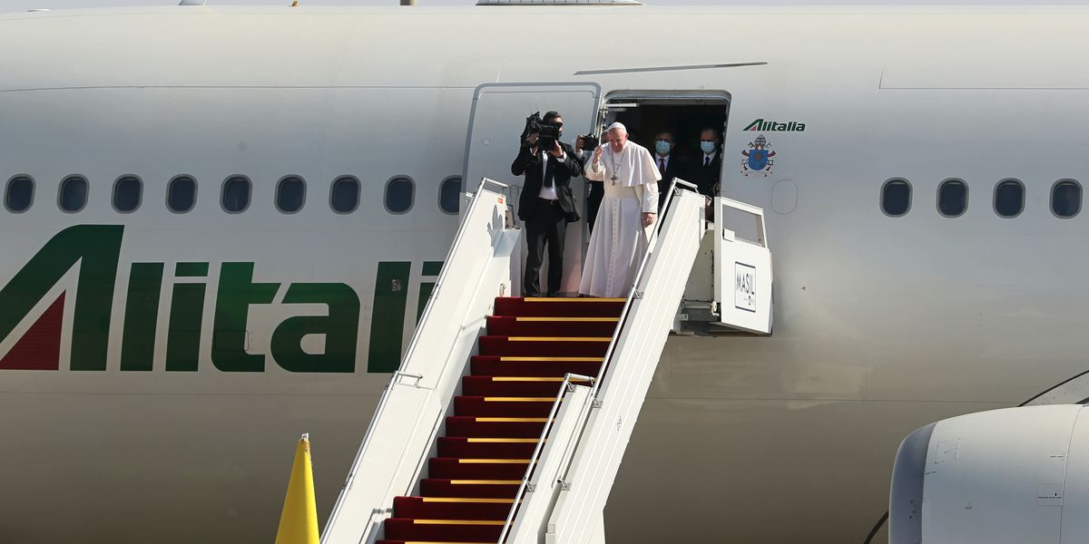 Pope weighed Iraq virus risk but believes God will protect
