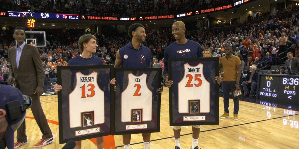 No. 22 Virginia edges a 57-54 victory over No. 10 Louisville on senior day