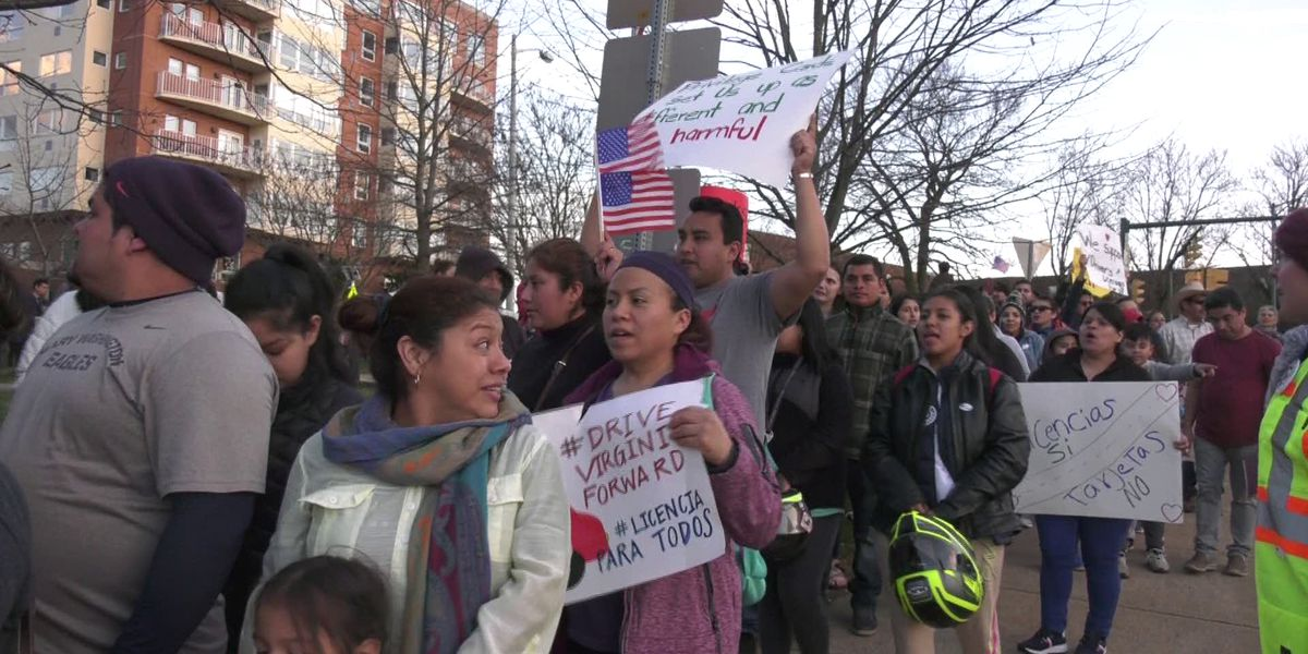 Hundreds in Charlottesville march for driver's licenses for undocumented immigrants