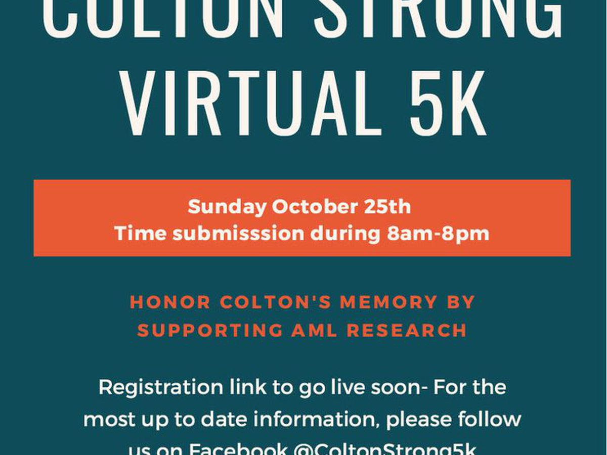 Despite weather, ColtonStrong 5K raising funds to fight Acute Myeloid Lukemia (AML) runs on