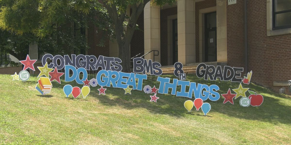 Burley Middle School celebrating its 8th grade students