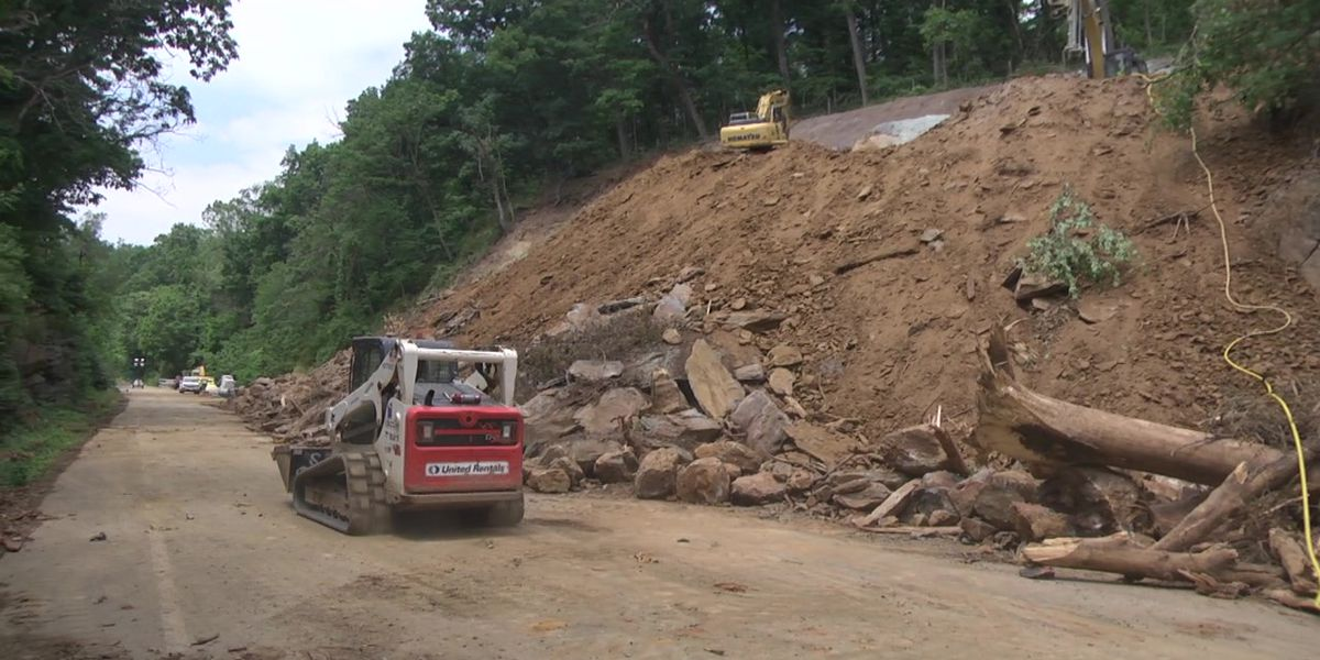 VDOT: Rt. 250 rockslide to be cleared by late July