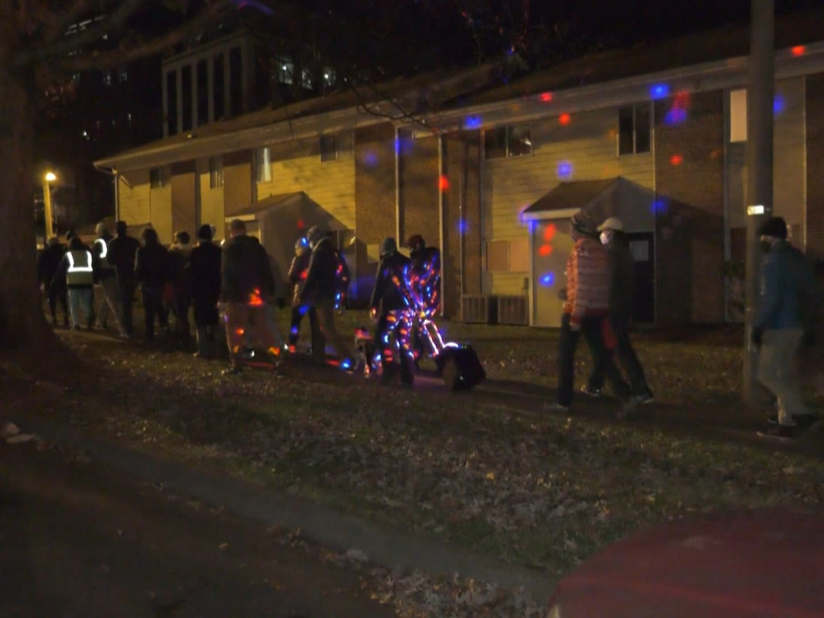 Dozens join 'Unsilent Night' through downtown Charlottesville