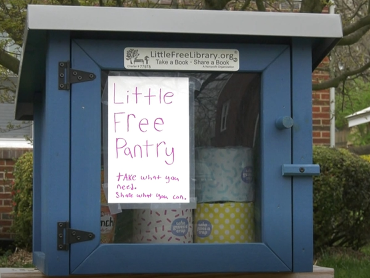 Charlottesville community supports one another with make-shift supplies library