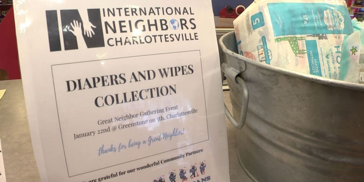 Charlottesville businesses holding diaper drive to help refugees