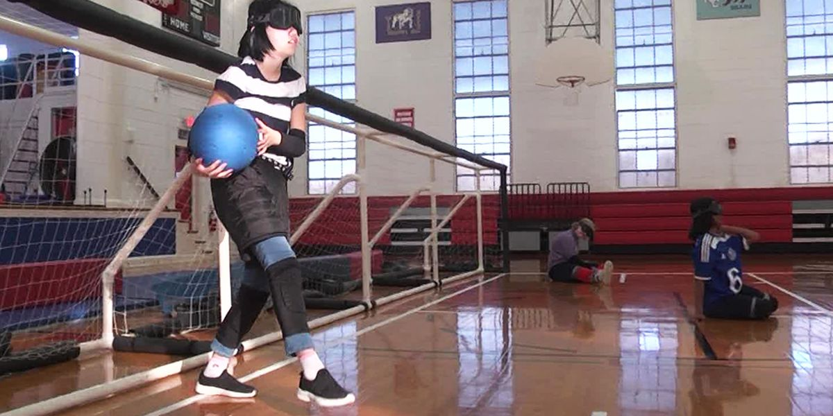 Virginia School for the Deaf and the Blind students play goalball