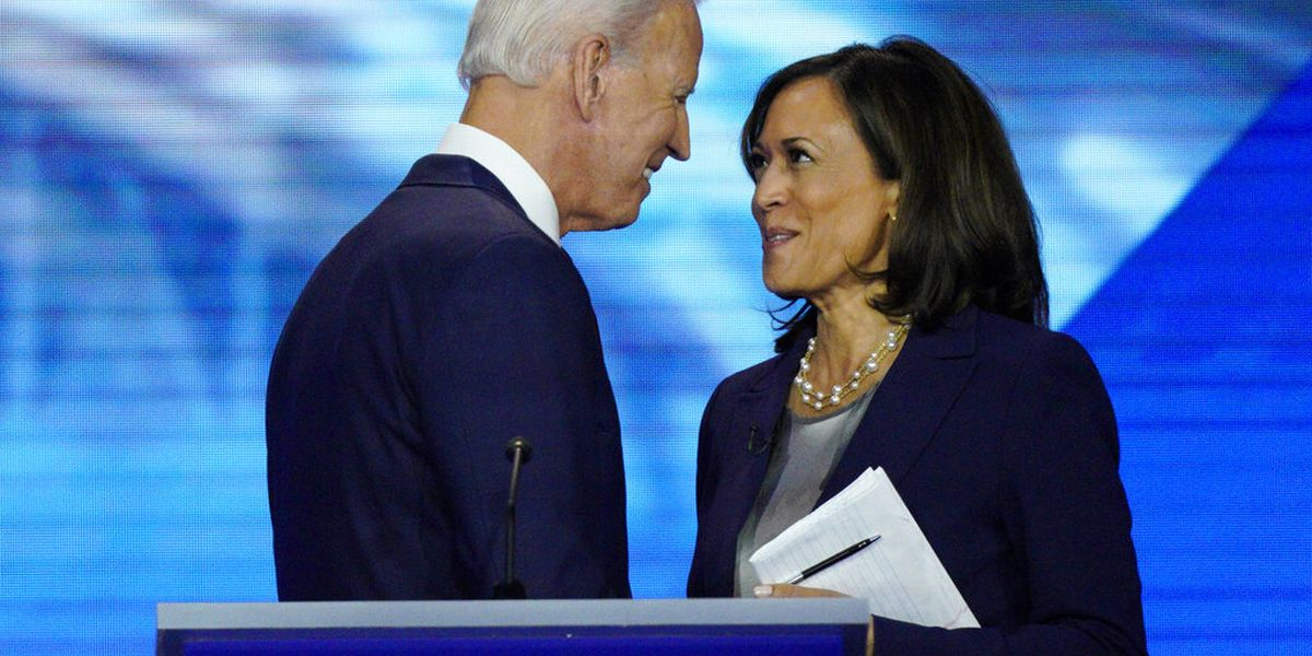 Biden, Harris lash Trump in introduction of historic VP pick