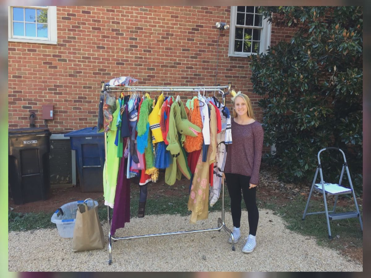 Western Albemarle High School senior brings costumes to kids in need for fourth year